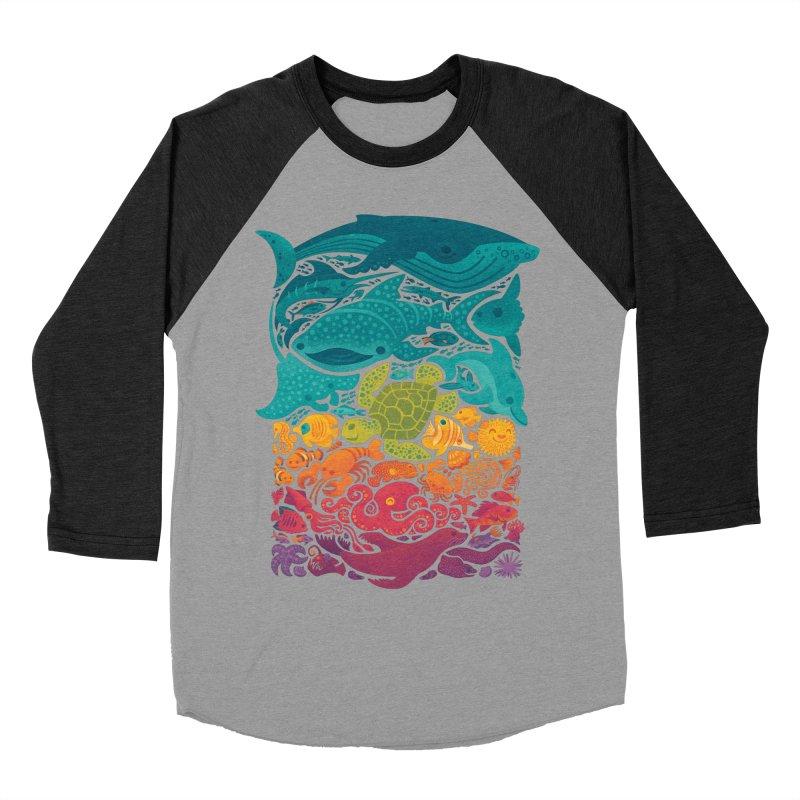 Aquatic Spectrum Women's Baseball Triblend Longsleeve T-Shirt by Waynem