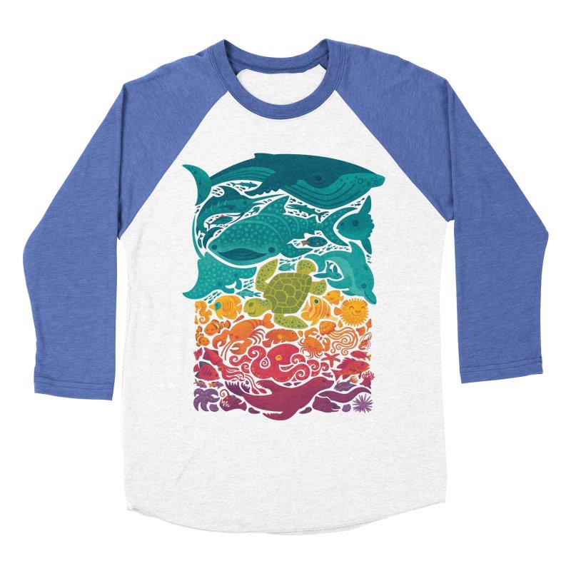 Aquatic Spectrum Men's Baseball Triblend Longsleeve T-Shirt by Waynem