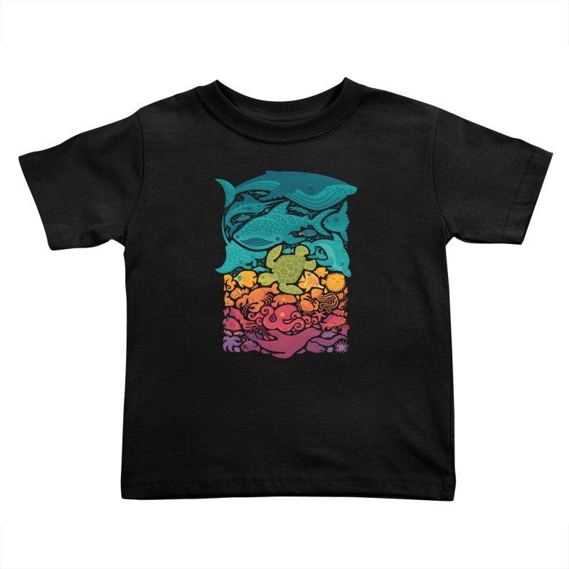 Aquatic Spectrum Kids Toddler T-Shirt by Waynem