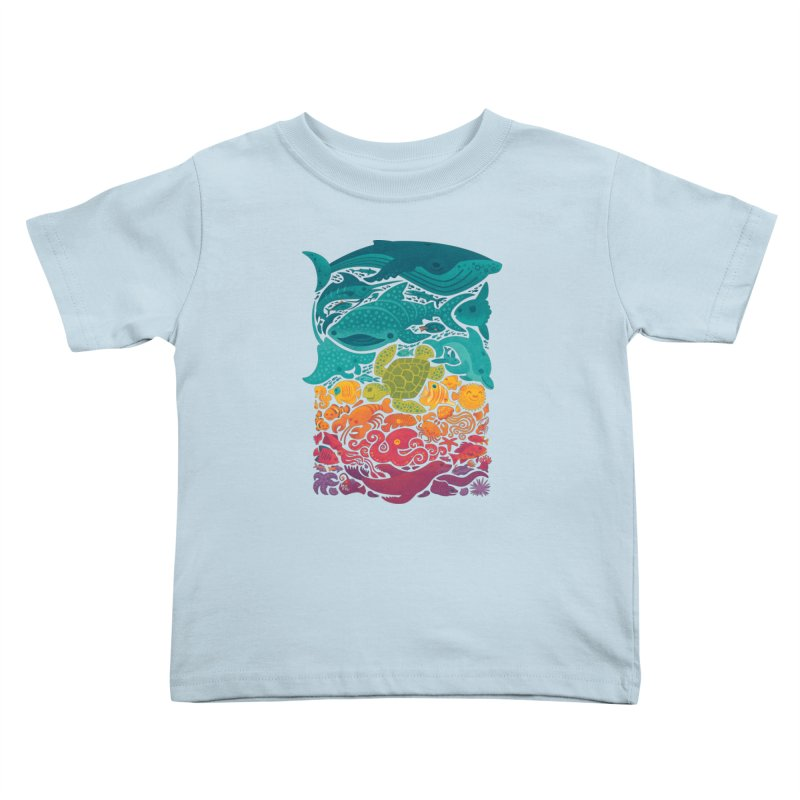 Aquatic Spectrum Kids Toddler T-Shirt by Waynem