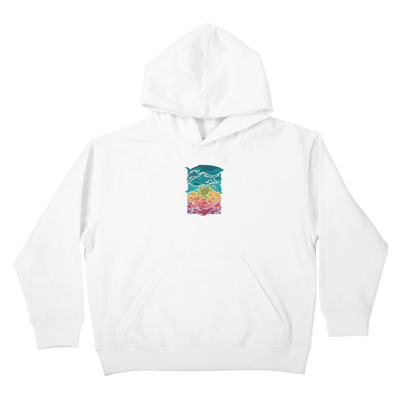 Aquatic Spectrum Kids Pullover Hoody by Waynem