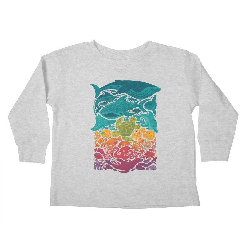 Aquatic Spectrum Kids Toddler Longsleeve T-Shirt by Waynem