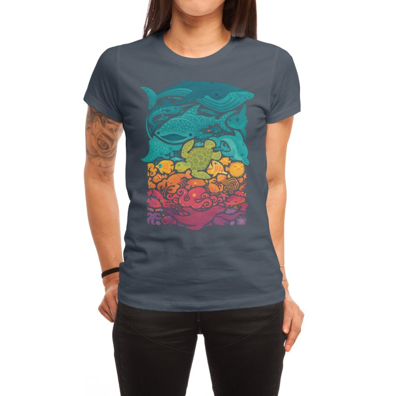 Aquatic Spectrum Women's T-Shirt by Waynem