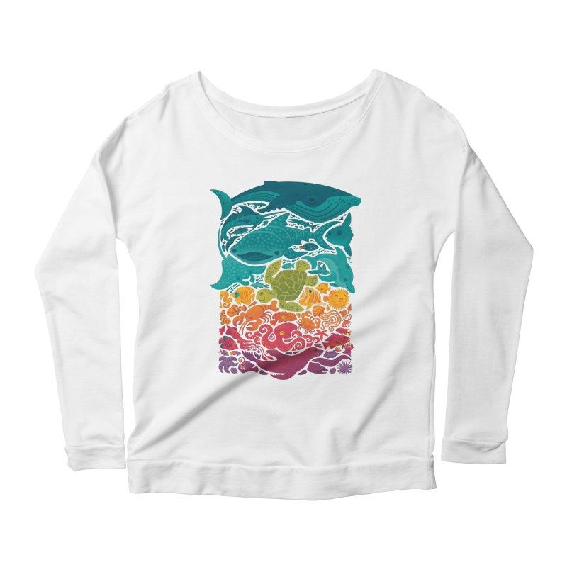 Aquatic Spectrum Women's Scoop Neck Longsleeve T-Shirt by Waynem