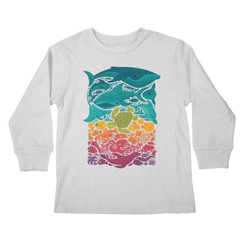 Aquatic Spectrum Kids Longsleeve T-Shirt by Waynem