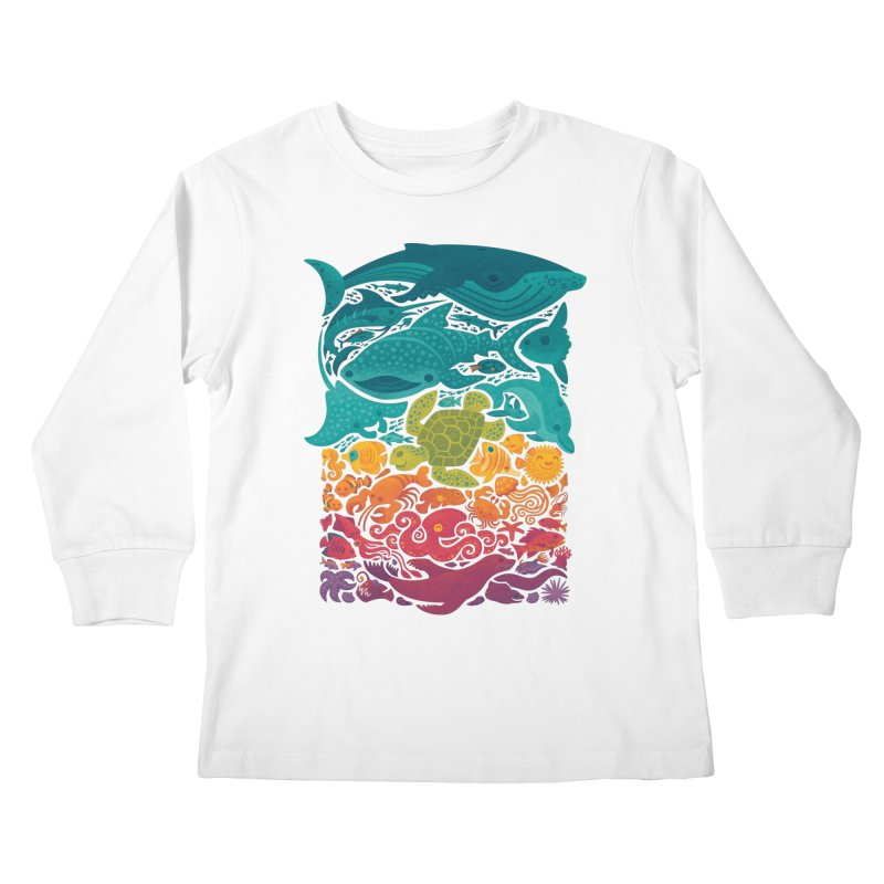 Aquatic Spectrum Kids Longsleeve T-Shirt by Waynem