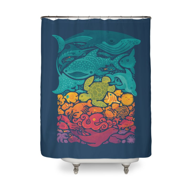 Aquatic Spectrum Home Shower Curtain by Waynem