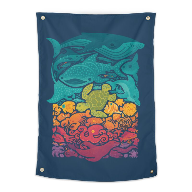 Aquatic Spectrum Home Tapestry by Waynem