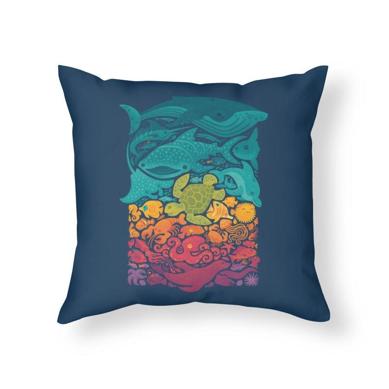 Aquatic Spectrum Home Throw Pillow by Waynem