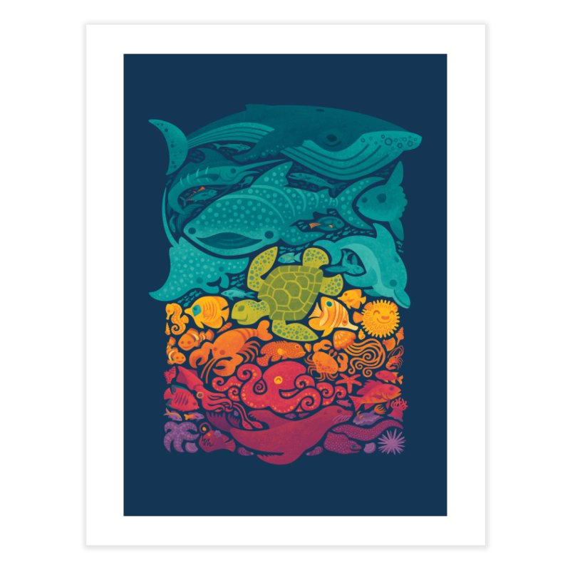 Aquatic Spectrum Home Fine Art Print by Waynem