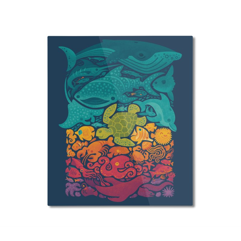 Aquatic Spectrum Home Mounted Aluminum Print by Waynem