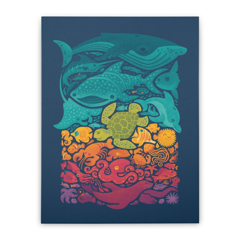 Aquatic Spectrum Home Stretched Canvas by Waynem