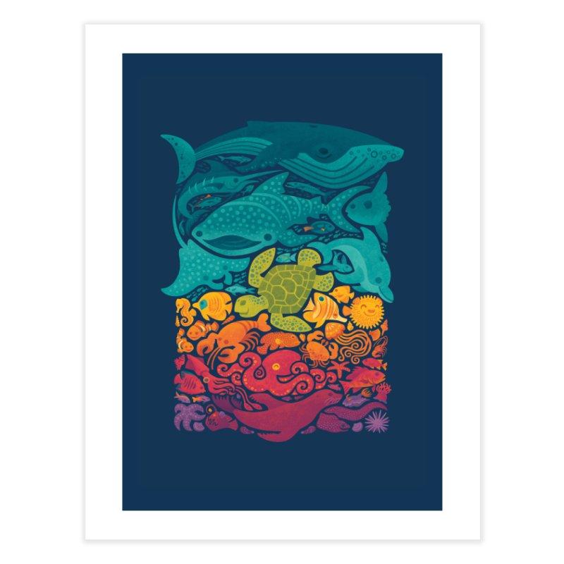Aquatic Spectrum Home Fine Art Print by Waynem