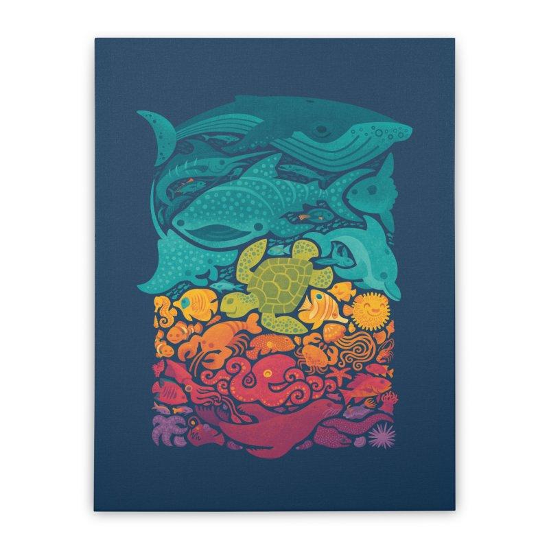 Aquatic Spectrum Home Stretched Canvas by Waynem