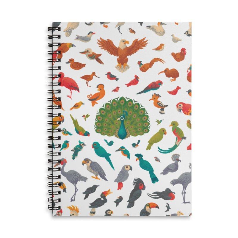 Aerial Spectrum : Pattern Accessories Lined Spiral Notebook by Waynem