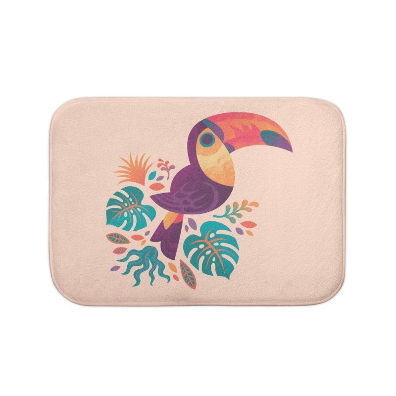 Tropical Toucan Home Bath Mat by Waynem