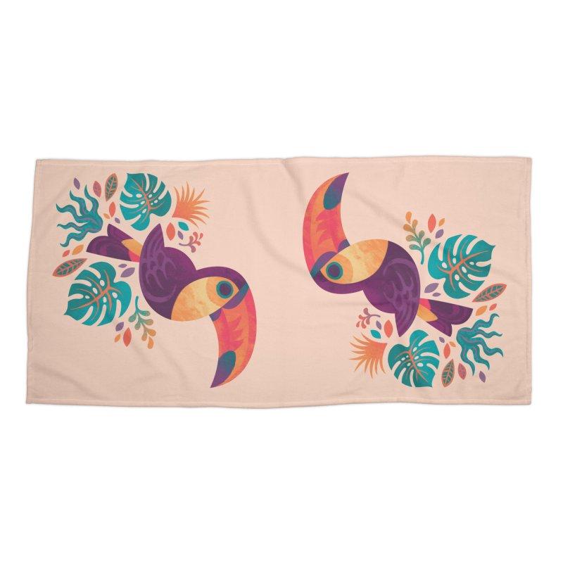 Tropical Toucan Accessories Beach Towel by Waynem