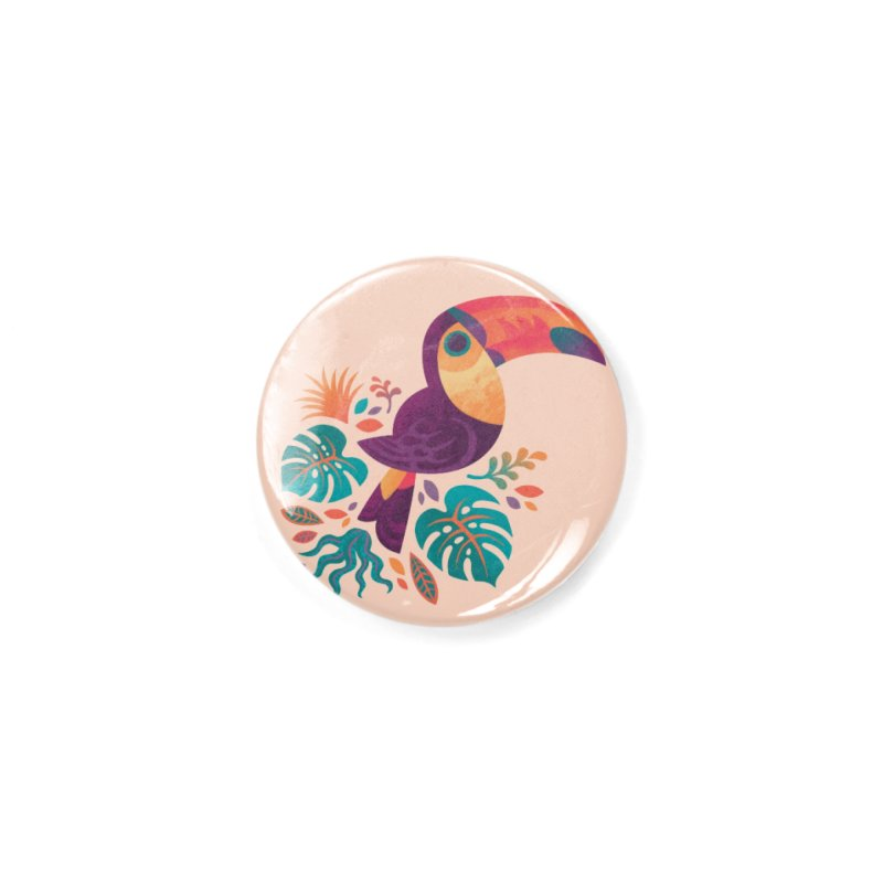 Tropical Toucan Accessories Button by Waynem