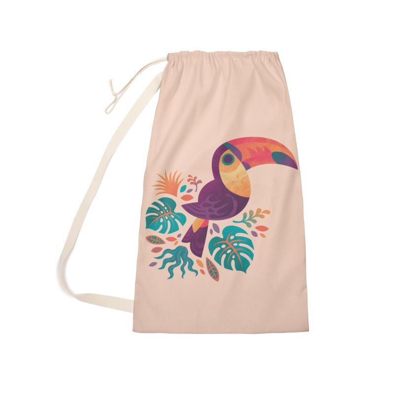 Tropical Toucan Accessories Laundry Bag Bag by Waynem