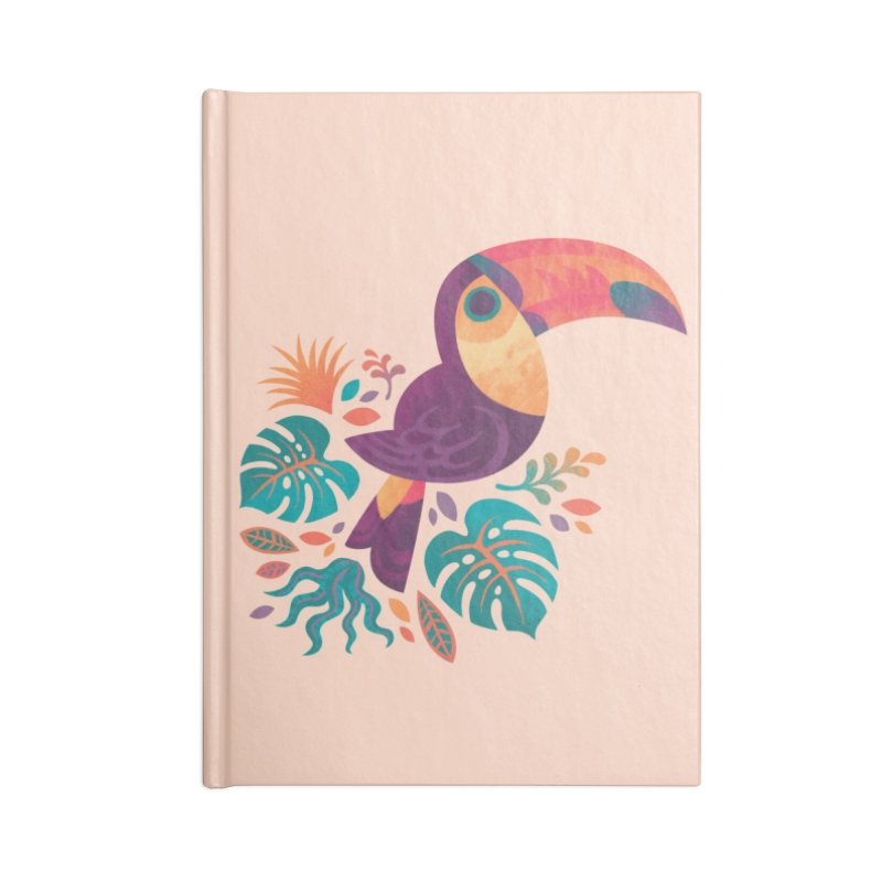 Tropical Toucan Accessories Blank Journal Notebook by Waynem