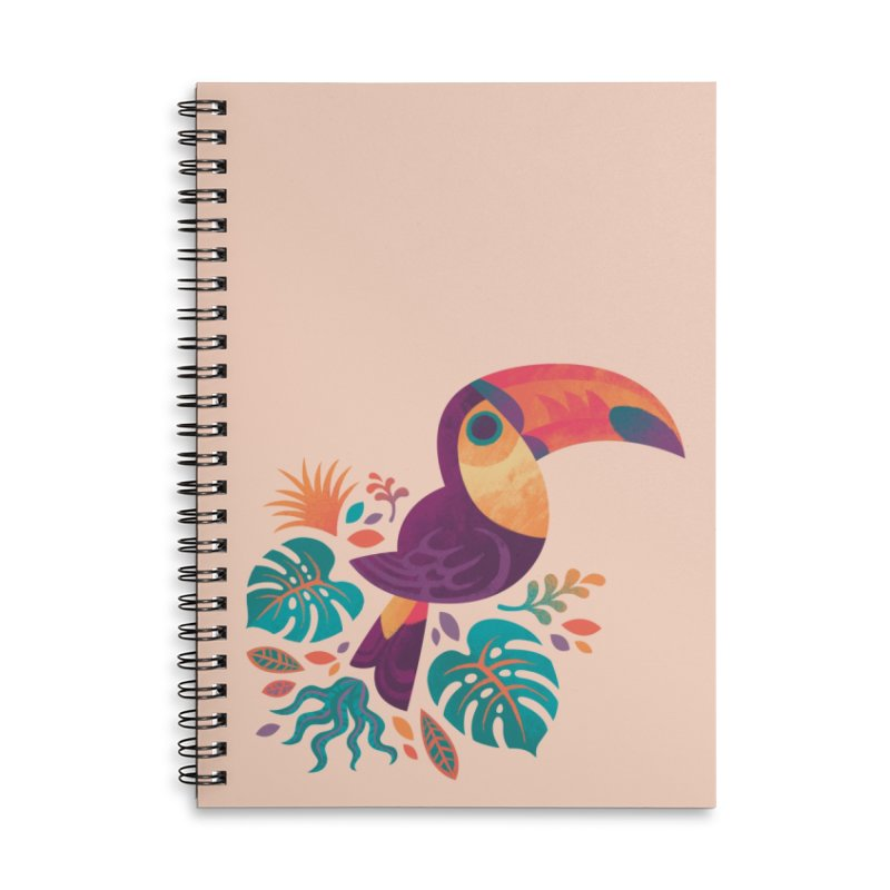Tropical Toucan Accessories Lined Spiral Notebook by Waynem