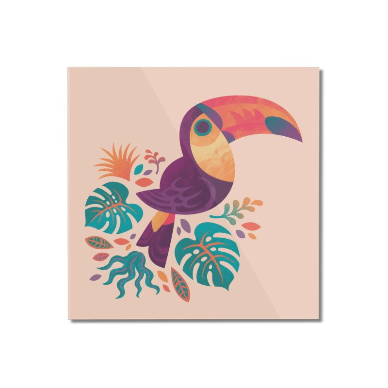 Tropical Toucan Home Mounted Acrylic Print by Waynem