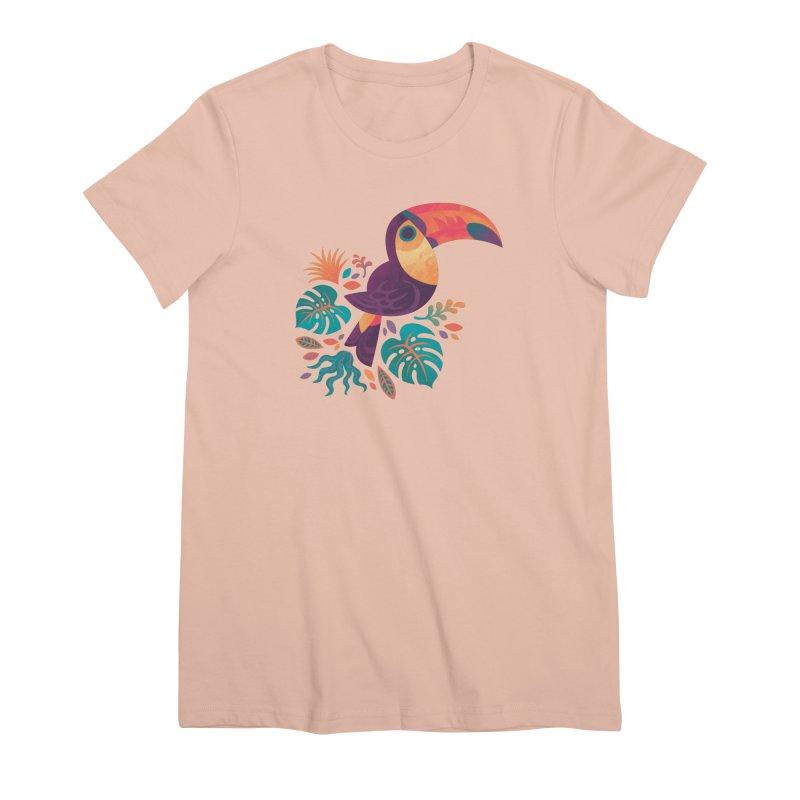 Tropical Toucan Women's Premium T-Shirt by Waynem