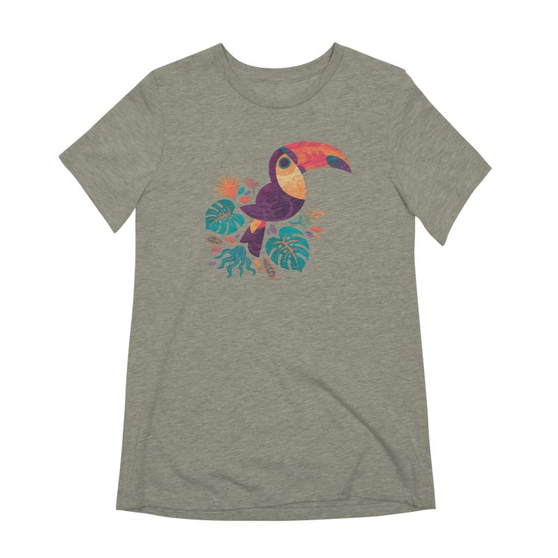 Tropical Toucan Women's Extra Soft T-Shirt by Waynem