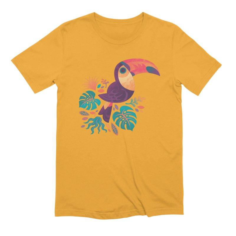 Tropical Toucan Men's Extra Soft T-Shirt by Waynem