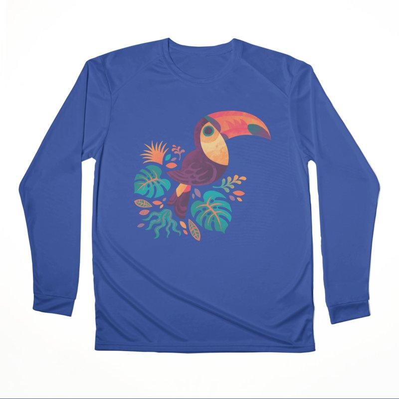Tropical Toucan Men's Performance Longsleeve T-Shirt by Waynem