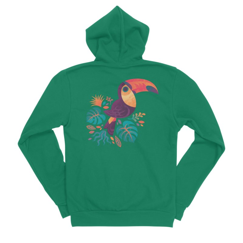 Tropical Toucan Women's Sponge Fleece Zip-Up Hoody by Waynem
