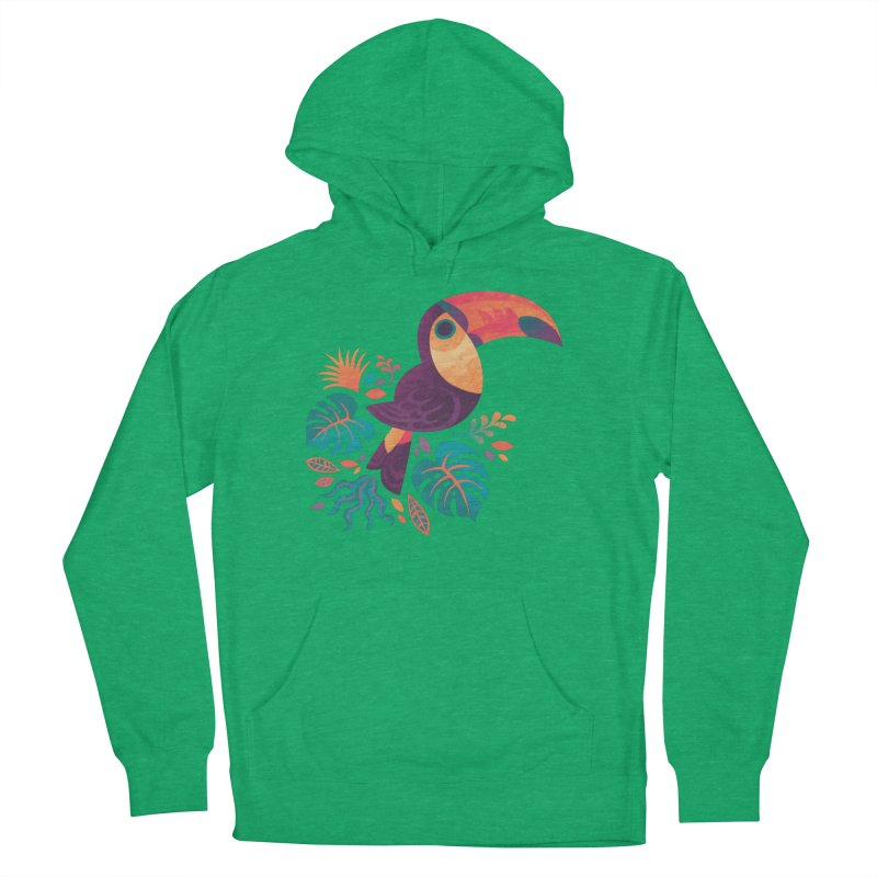Tropical Toucan Men's French Terry Pullover Hoody by Waynem