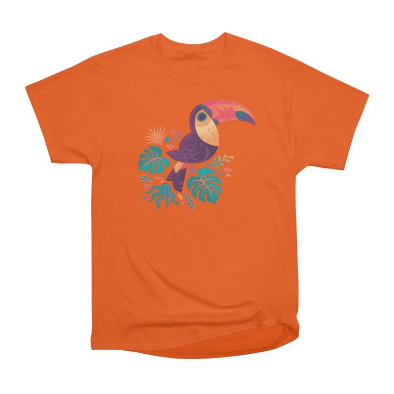 Tropical Toucan Men's Heavyweight T-Shirt by Waynem