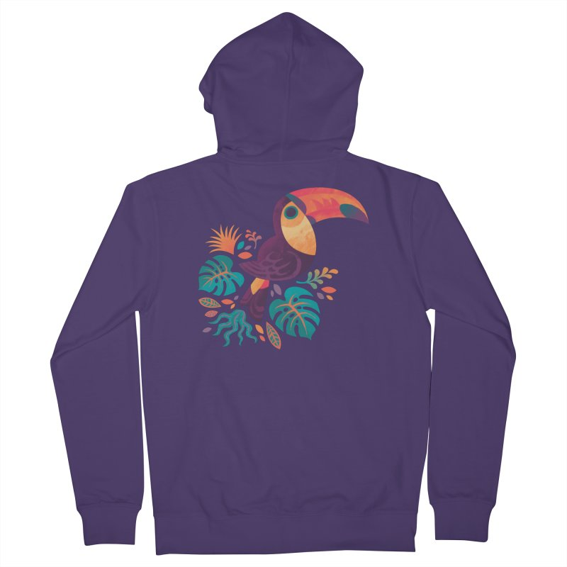 Tropical Toucan Women's French Terry Zip-Up Hoody by Waynem