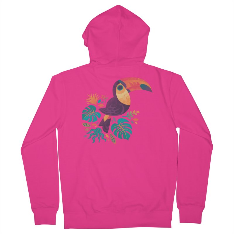 Tropical Toucan Men's French Terry Zip-Up Hoody by Waynem