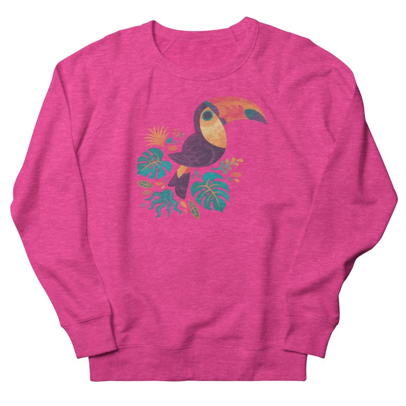 Tropical Toucan Men's French Terry Sweatshirt by Waynem