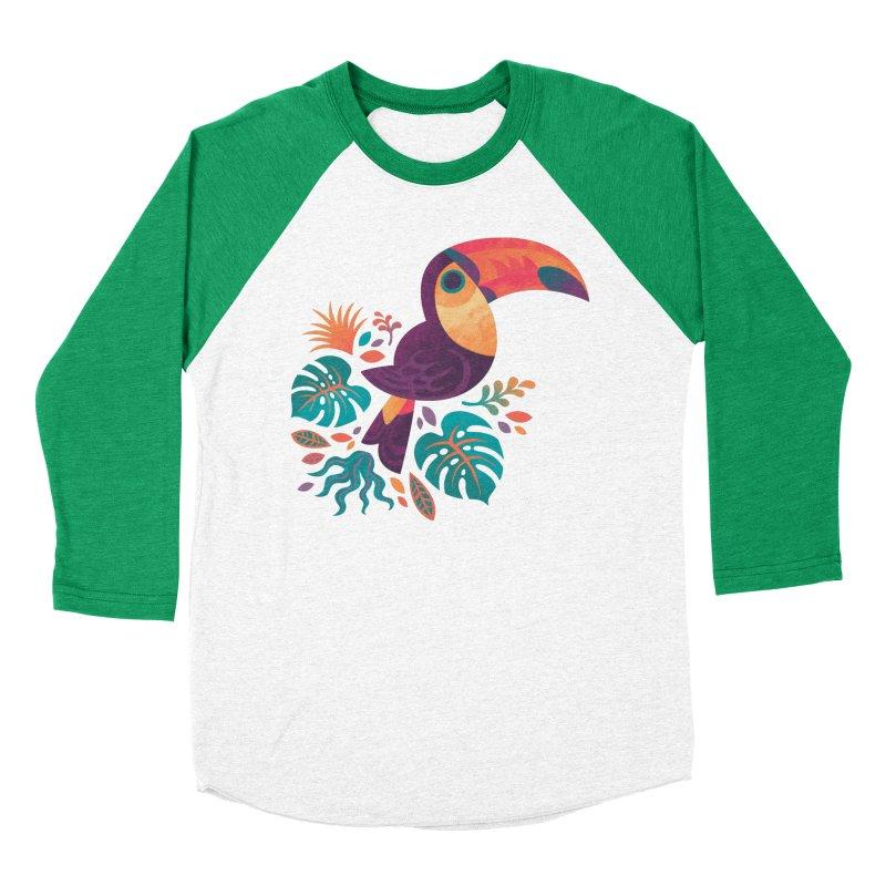 Tropical Toucan Women's Baseball Triblend Longsleeve T-Shirt by Waynem