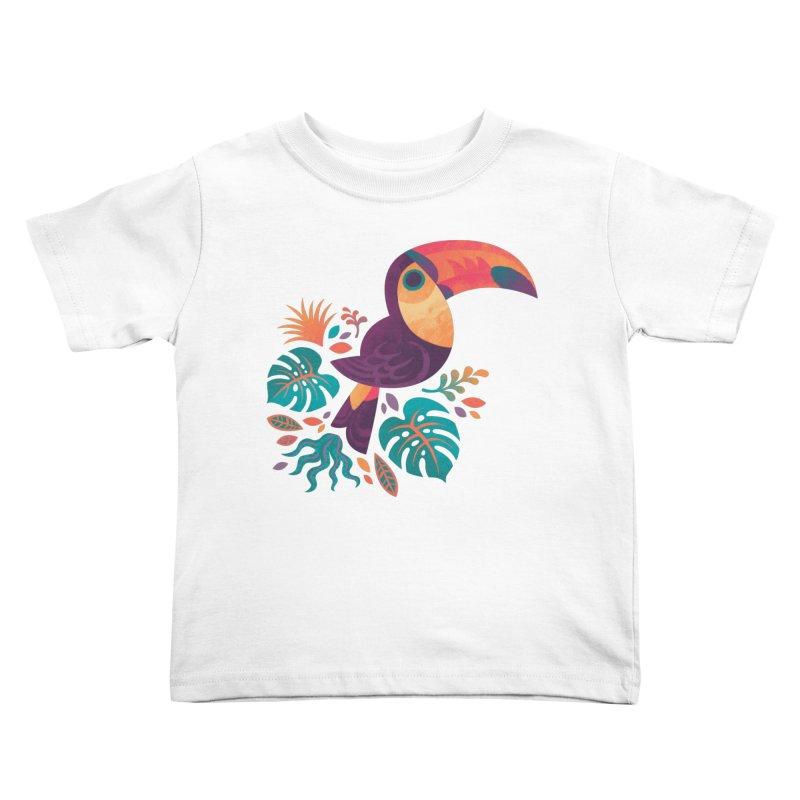 Tropical Toucan Kids Toddler T-Shirt by Waynem