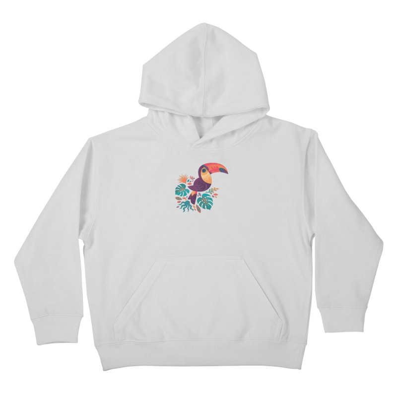 Tropical Toucan Kids Pullover Hoody by Waynem
