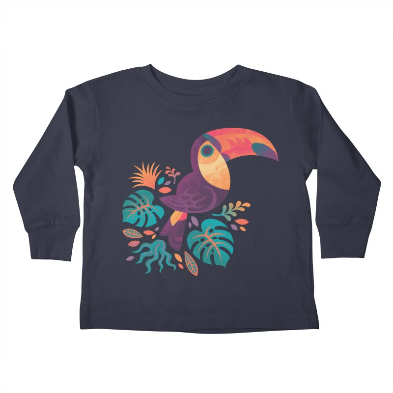 Tropical Toucan Kids Toddler Longsleeve T-Shirt by Waynem