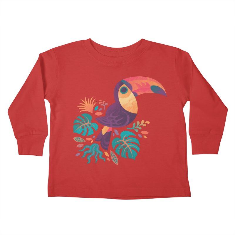 Tropical Toucan Kids Toddler Longsleeve T-Shirt by Waynem