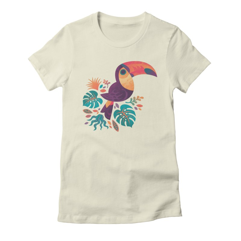 Tropical Toucan Women's Fitted T-Shirt by Waynem