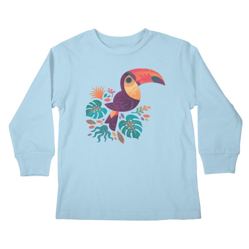 Tropical Toucan Kids Longsleeve T-Shirt by Waynem