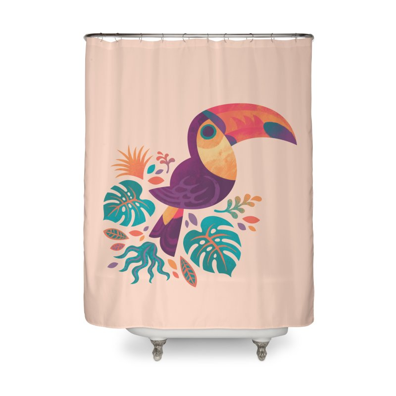 Tropical Toucan Home Shower Curtain by Waynem