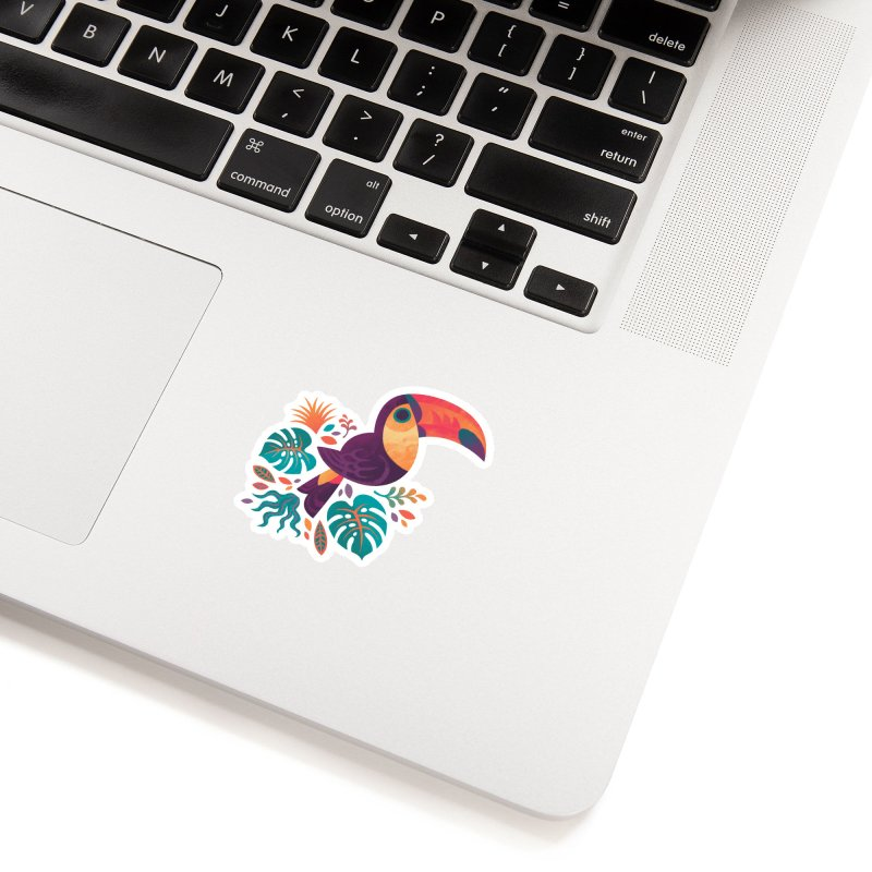 Tropical Toucan Accessories Sticker by Waynem