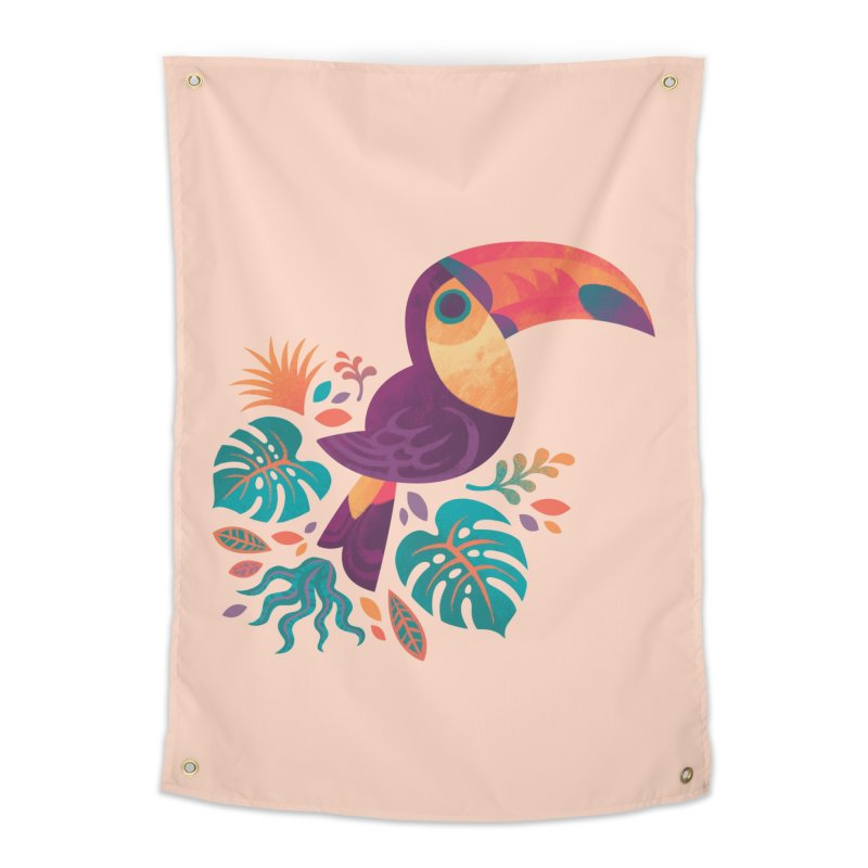 Tropical Toucan Home Tapestry by Waynem