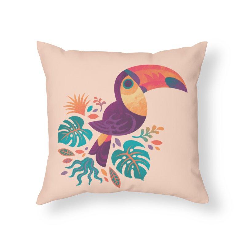 Tropical Toucan Home Throw Pillow by Waynem
