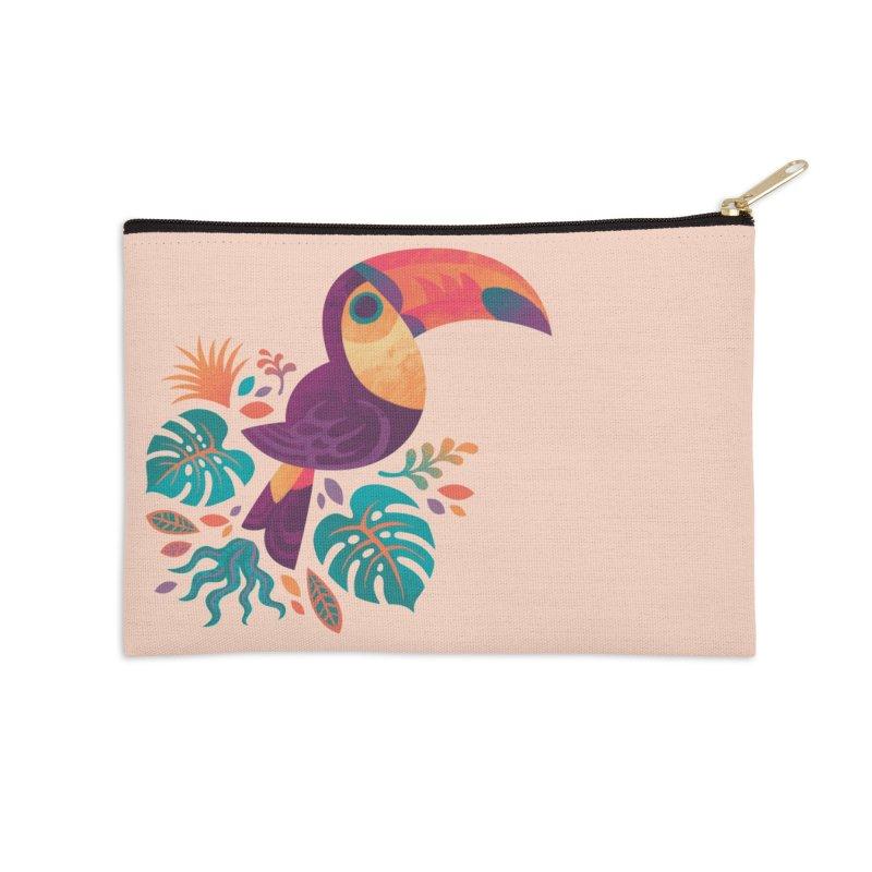 Tropical Toucan Accessories Zip Pouch by Waynem