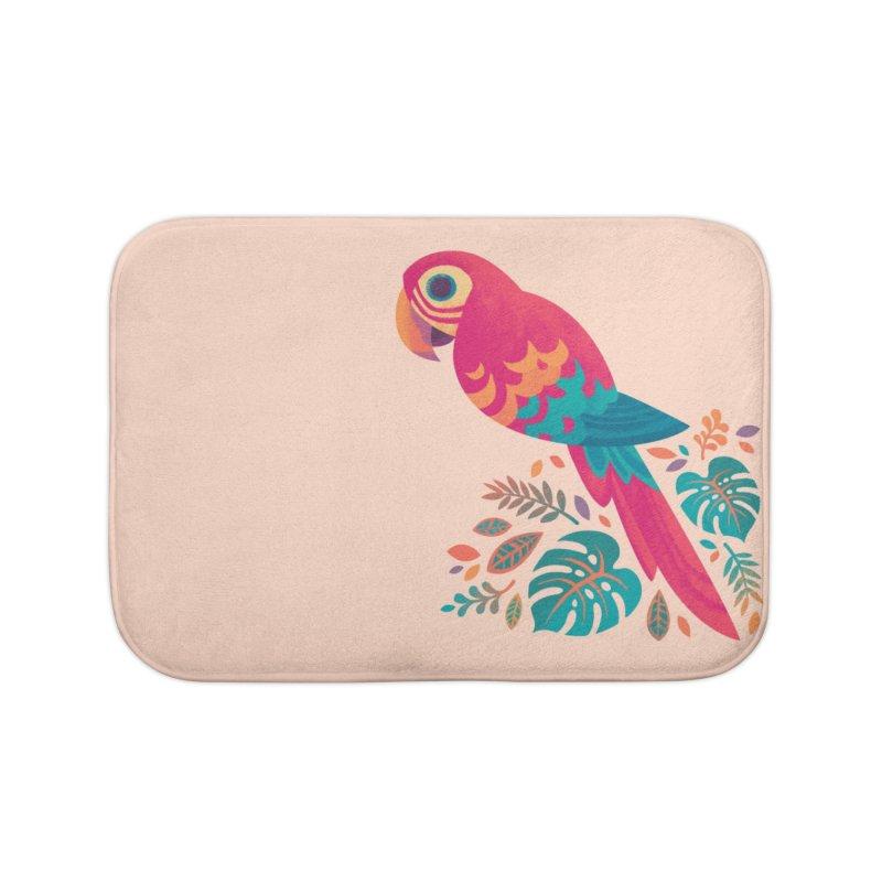 Scarlet Macaw Home Bath Mat by Waynem