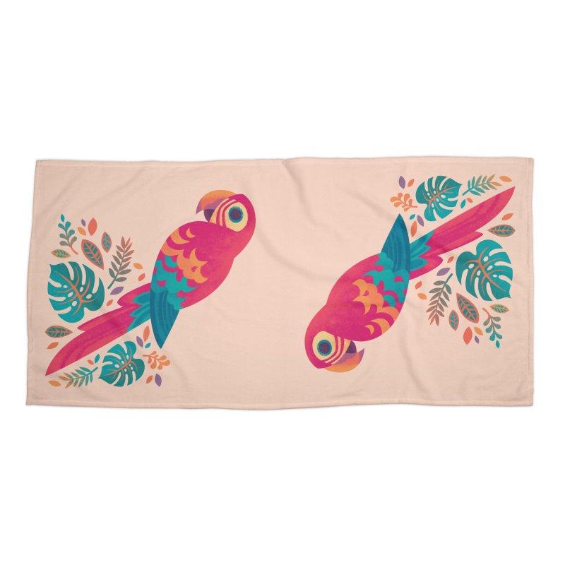 Scarlet Macaw Accessories Beach Towel by Waynem
